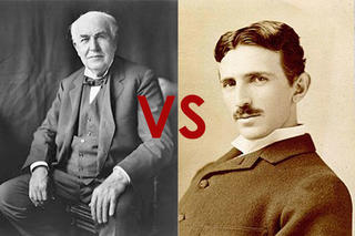 Edison vs Tesla -DC vs AC-