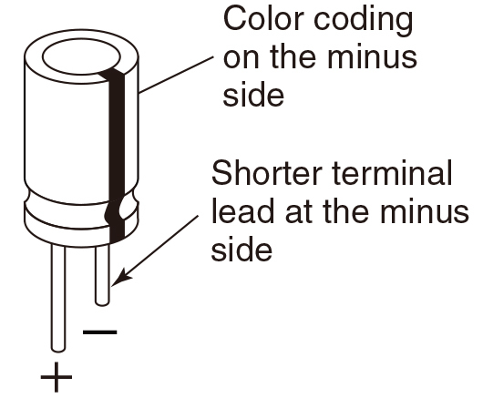 leaded aluminum electrolytic capacitor