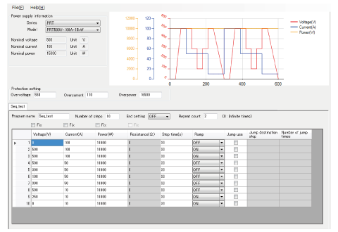 Sequence Function Dedicated Software Screen