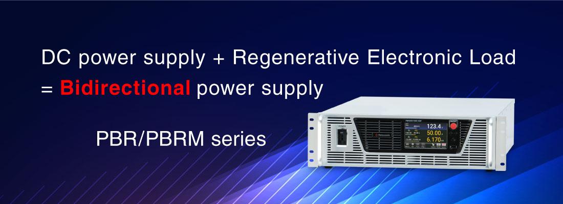 Regenerative, Bidirectional DC power supply PBR series