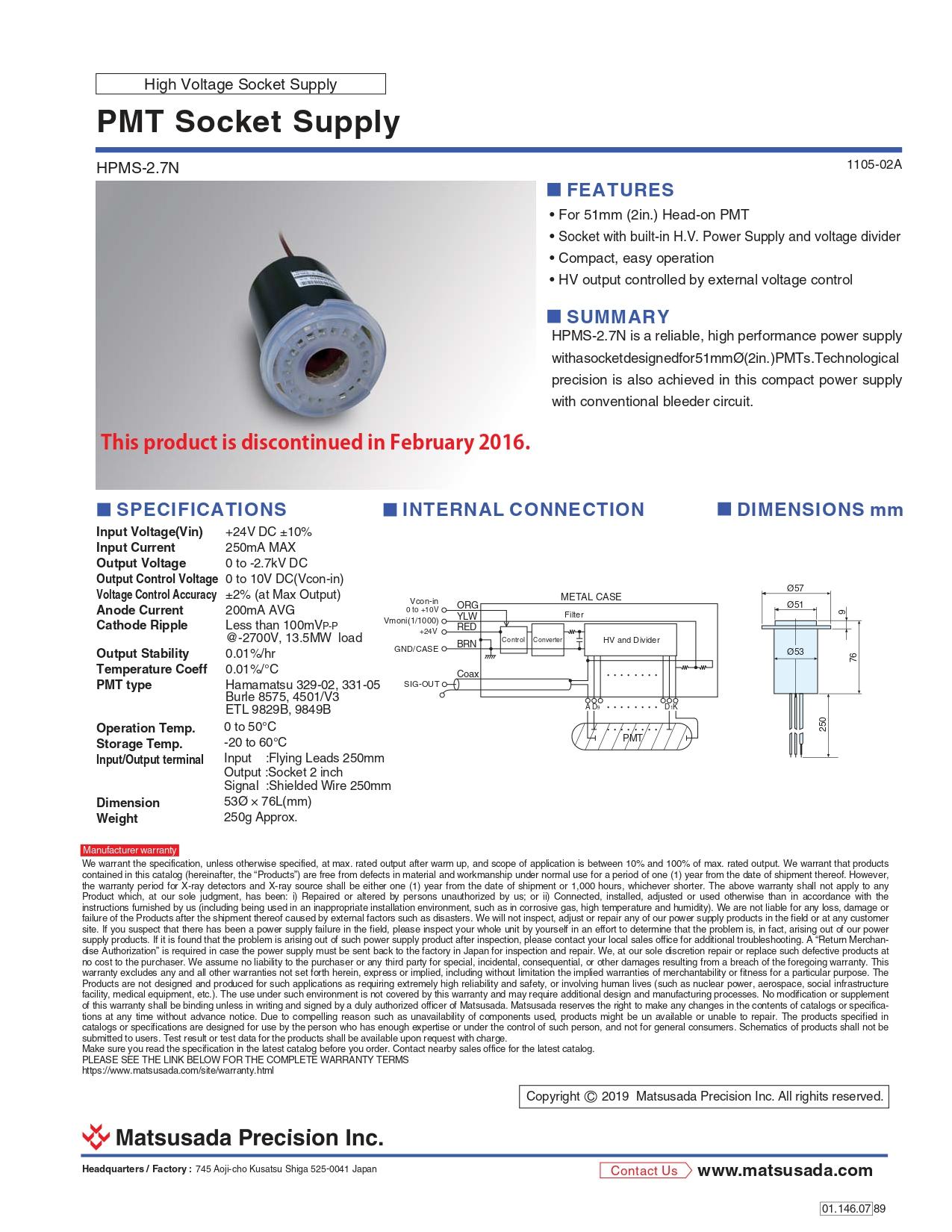 HPMS-2.7N series Datasheet