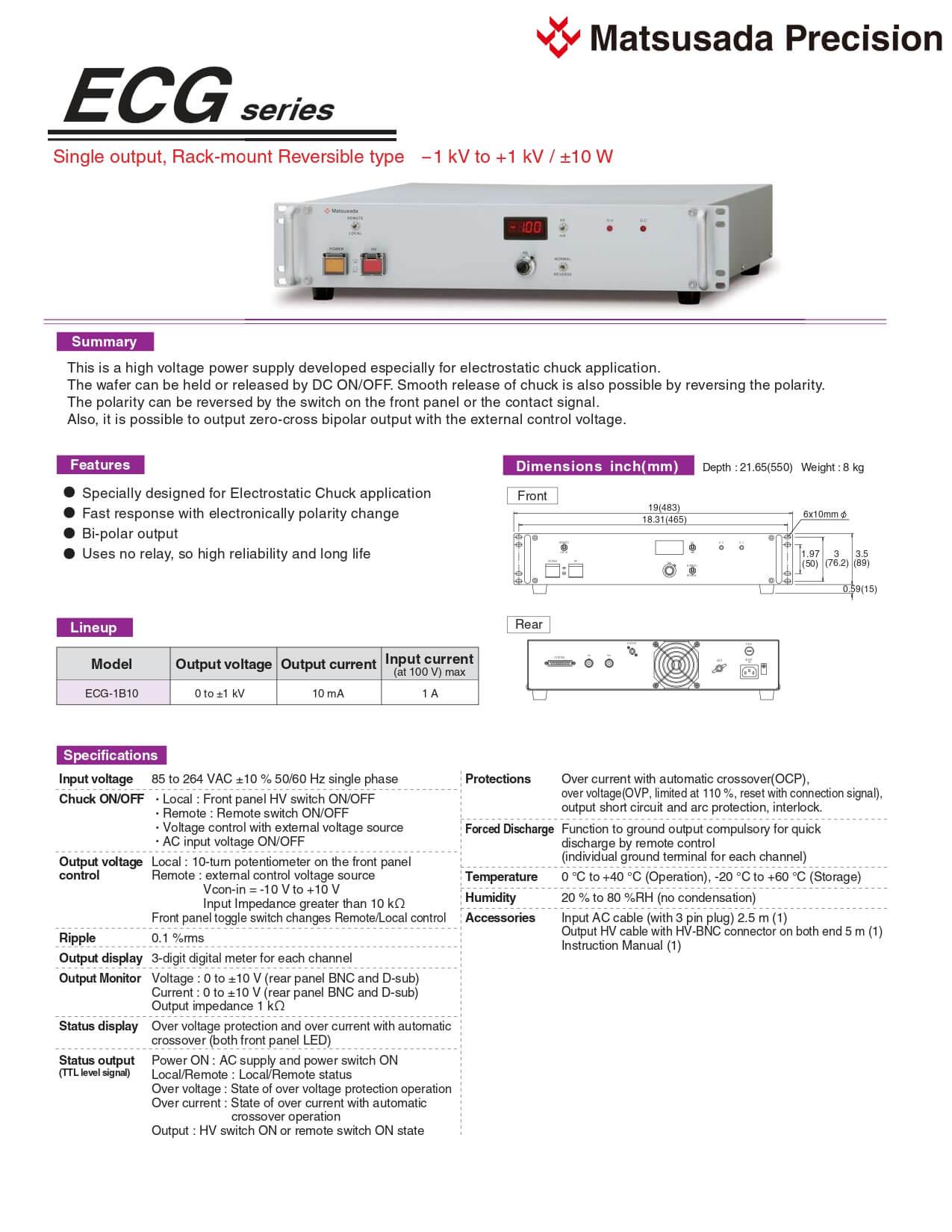 ECG series Datasheet