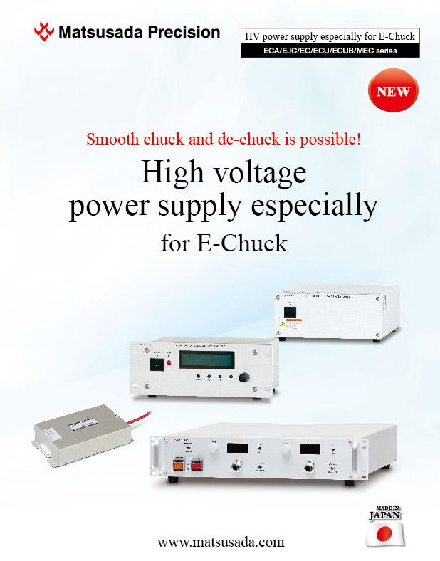 High voltage power supply especially for E-Chuck Selection Guide