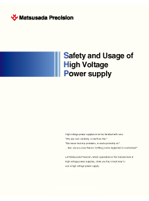 Safety and Usage of High voltage Power supply