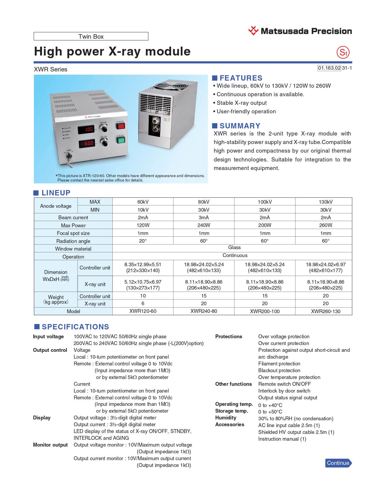 XWR series Datasheet